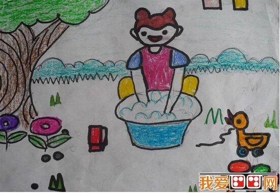 儿童画欣赏:五一劳动节儿童画大全