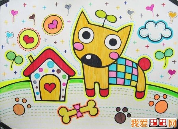 > 幼儿学画画:小狗儿童画大全             可爱的小狗不仅是小孩子的