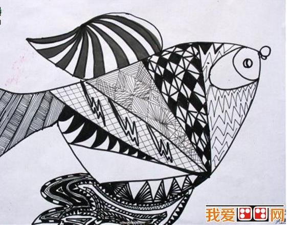 童画欣赏 各种装饰画黑白画
