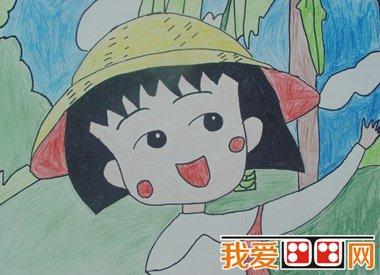简笔画教程:樱桃小丸子的简笔画_儿童画教程_学画画