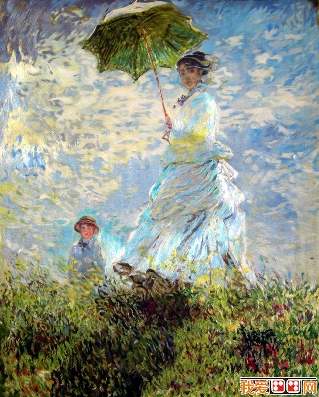 世界经典名画_莫泰著名油画《撑阳伞的女人》赏析_世界名画_百科_我