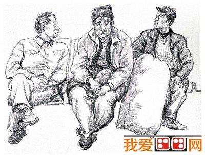 速写生活人物场景 广州画室 艺库联盟画室