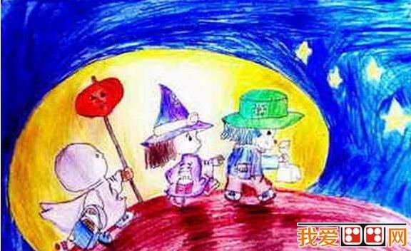 万圣节儿童画作品欣赏