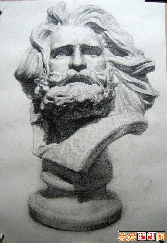 以石膏像为写生教材进行素描基础训练,在欧洲已有数百年的历史.