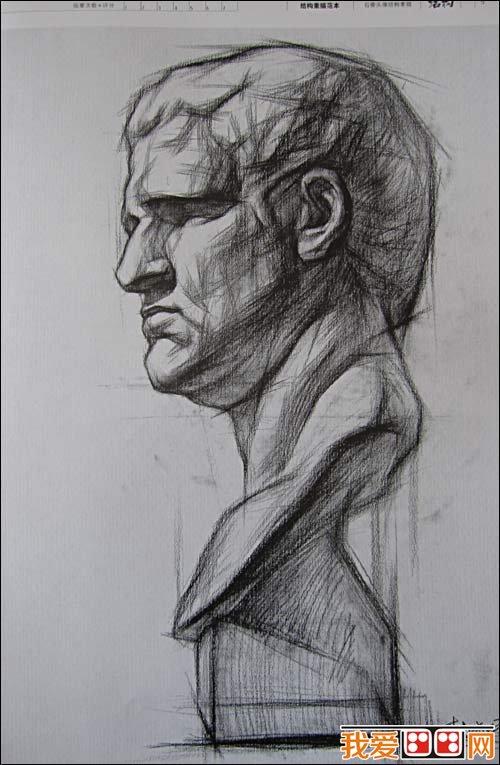 素描人物头像