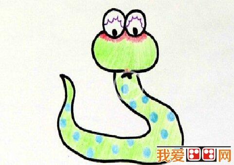 蛇的简笔画:打草惊蛇简笔画教程