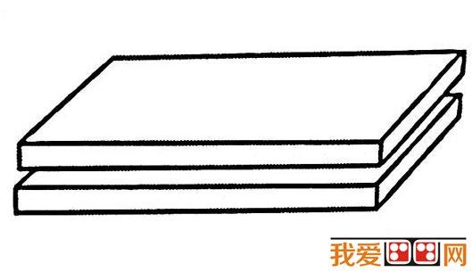儿童画简笔画:书的画法