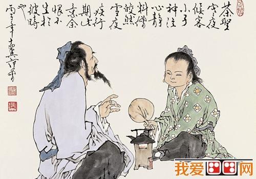 中国古代墓葬绘画中的煎茶与温酒_新闻_我爱画画网