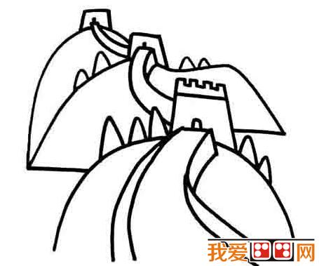 幼儿简笔画:烽火台的简笔画教程_儿童画教程_学画画