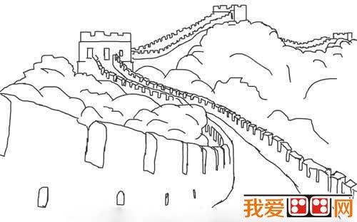 小学生简笔画 长城的简笔画教程
