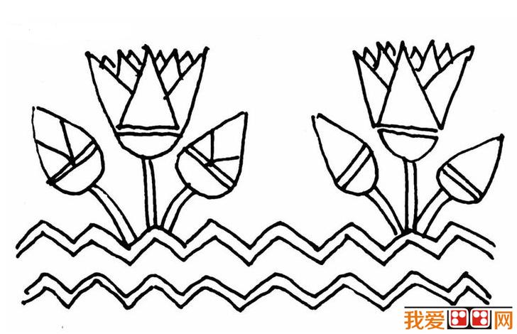 儿童学简笔画:莲花