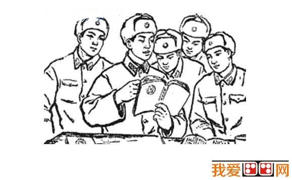 雷锋简笔画作品大全欣赏(2)