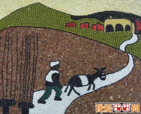 儿童画欣赏:趣味横生的豆贴画大全(3)