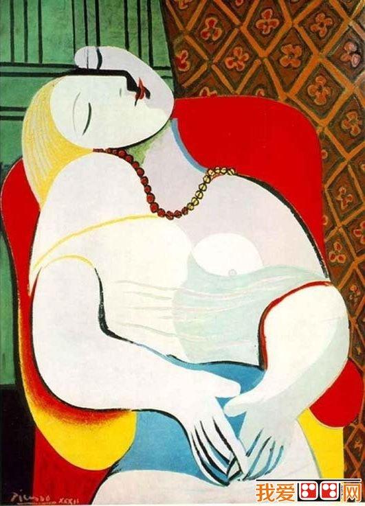 毕加索油画梦高清图片