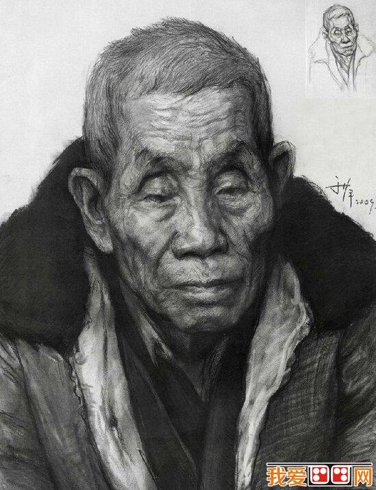 画家于萍素描头像作品欣赏(3)_名家素描_素描_我爱