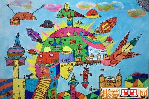 优秀的儿童科幻画作品欣赏 5