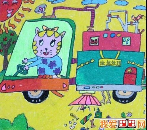 優秀的兒童科幻畫作品欣賞(2)