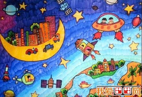优秀的儿童科幻画作品欣赏 4