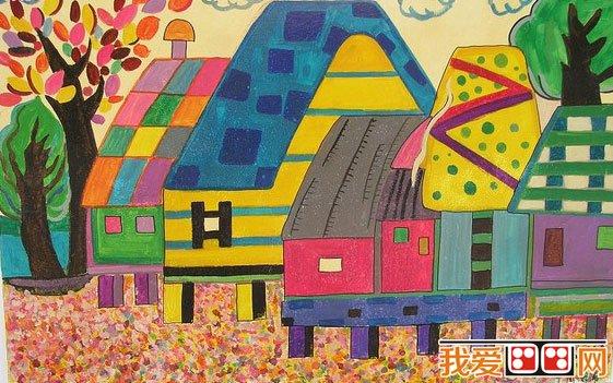 儿童水彩画 秋天儿童水彩画作品