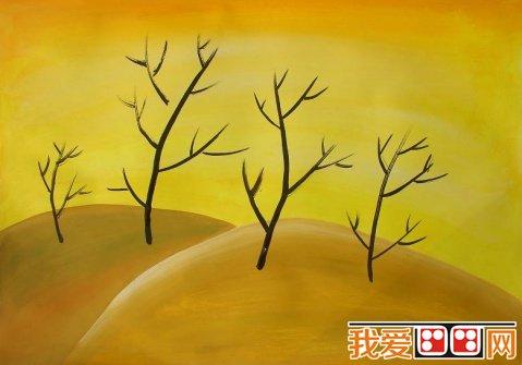 儿童水彩画:秋天儿童水彩画作品(4)