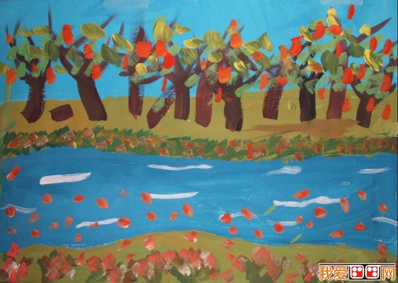 儿童水彩画:秋天儿童水彩画作品(6)