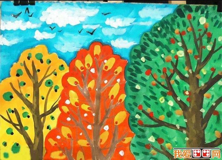 儿童水彩画:自然风景儿童水彩画作品欣赏(3)