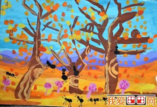 儿童水彩画:自然风景儿童水彩画作品欣赏(4)