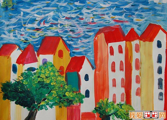 儿童水粉画:我的家园水粉画作品欣赏(4)