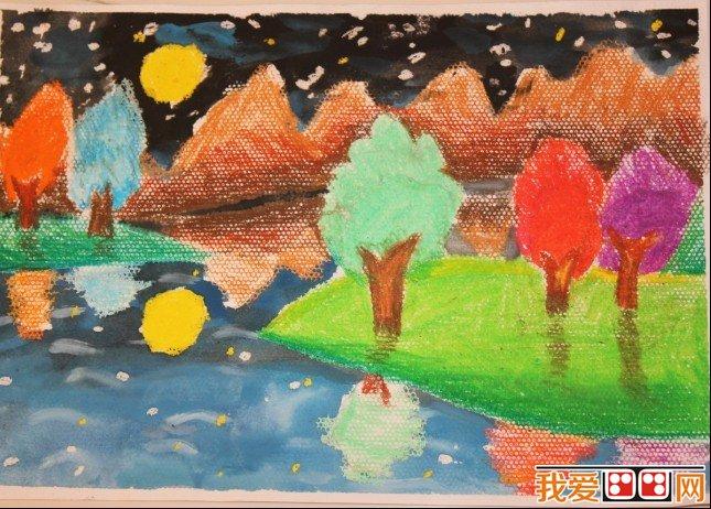 儿童水粉画:我的家园水粉画作品欣赏(5)