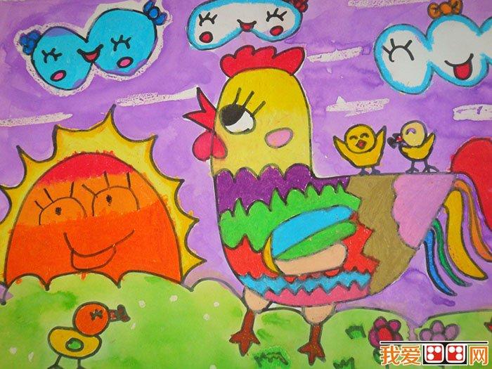 儿童水粉画 可爱的动物水粉画作品欣赏动物眼中的色彩答案