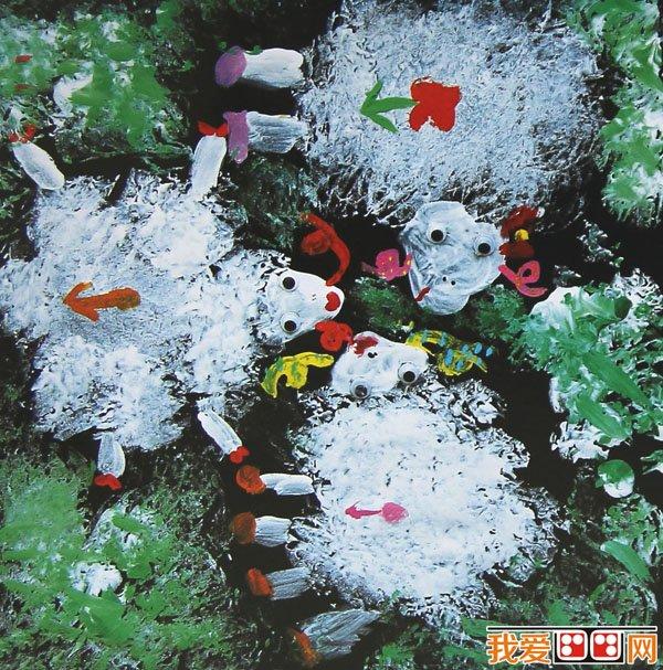 儿童水粉画 可爱的动物水粉画作品欣赏 2