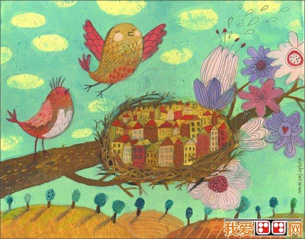 儿童水粉画:可爱的动物水粉画作品欣赏(6)