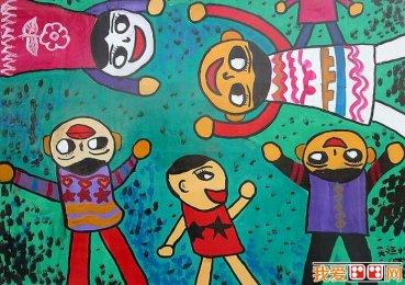 兒童卡通畫(11p),慶祝六一兒童節卡通畫圖片(3)