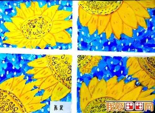 儿童水粉画:美丽的花草儿童水粉画欣赏(3)