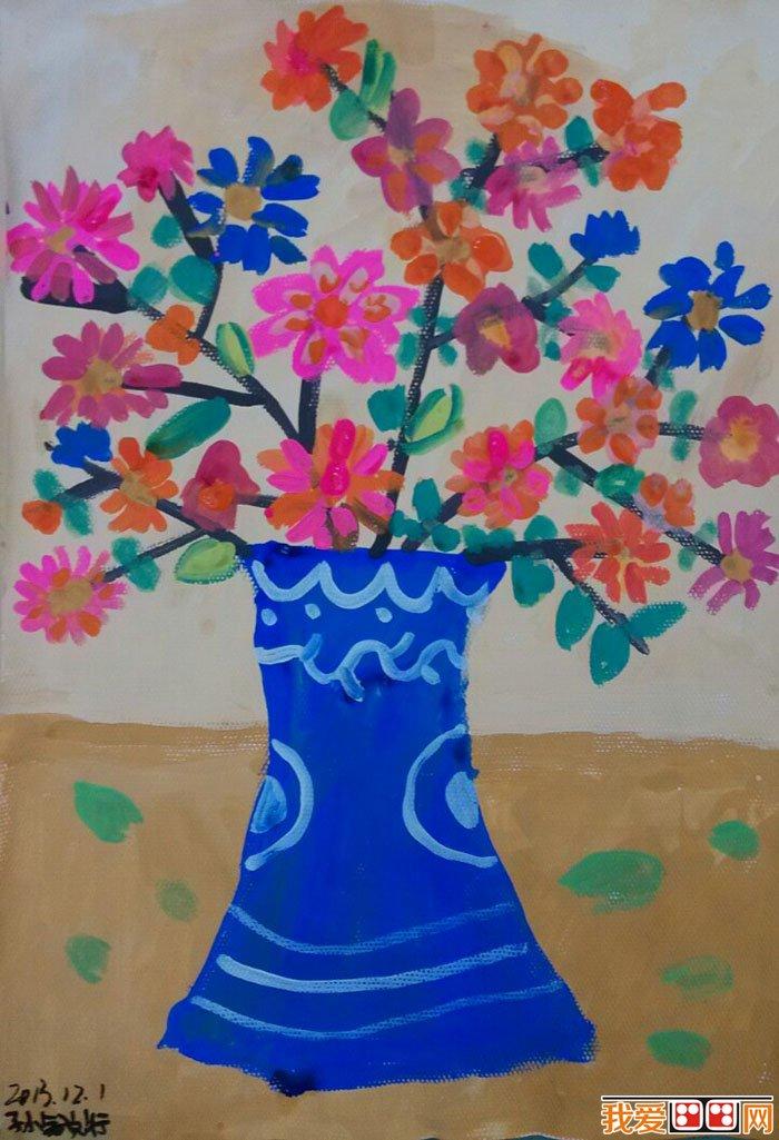 儿童水粉画:美丽的花草儿童水粉画欣赏(5)