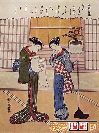 铃木春信的作品少女