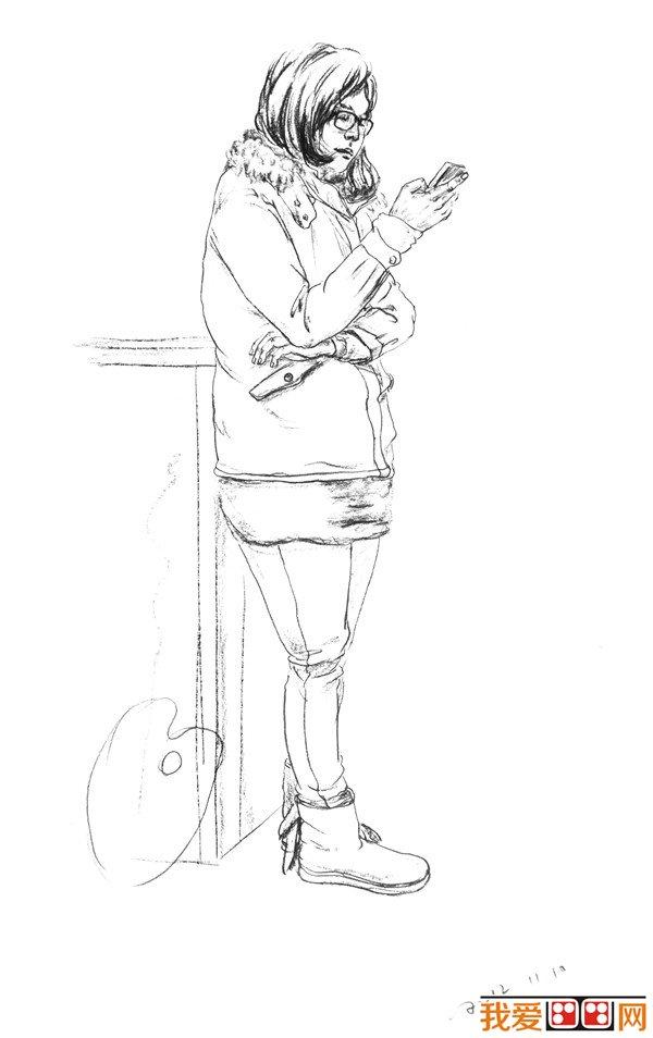 美术高考人物速写作品欣赏(6)