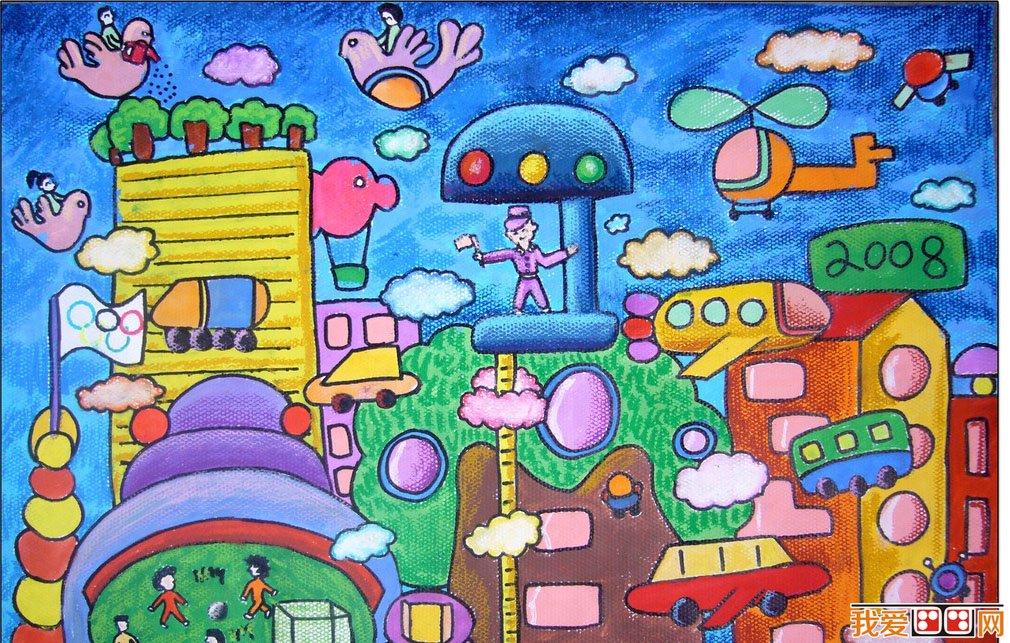 未来世界儿童画简笔画分享展示
