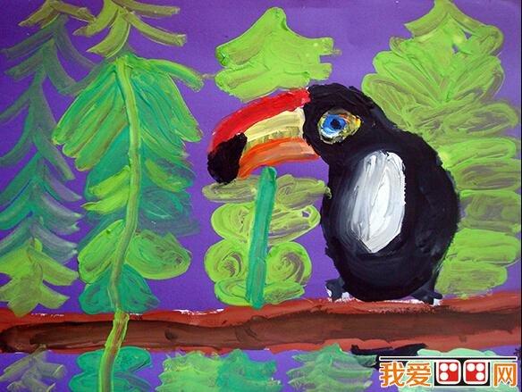 儿童水彩画:可爱的动物水彩画作品欣赏(2)