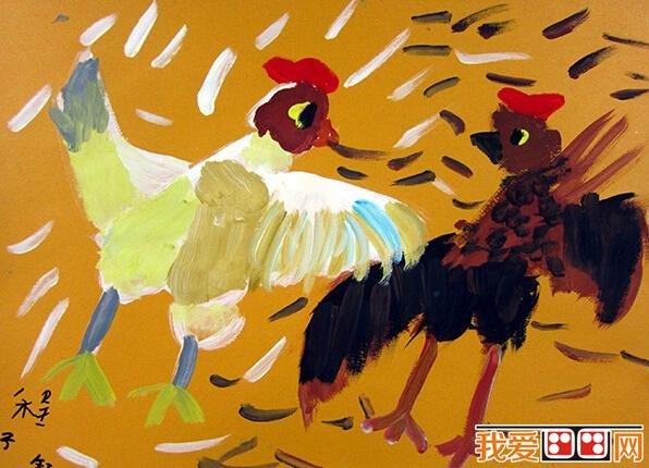 儿童水彩画:可爱的动物水彩画作品欣赏(5)