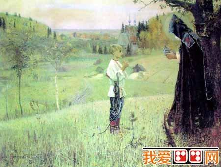 —密密的树林,散落的村庄,曲曲弯弯的小路,尖顶的教堂与遥远的图片