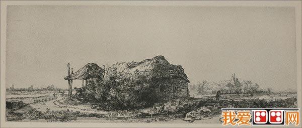 伦勃朗风景素描画作品欣赏(5)