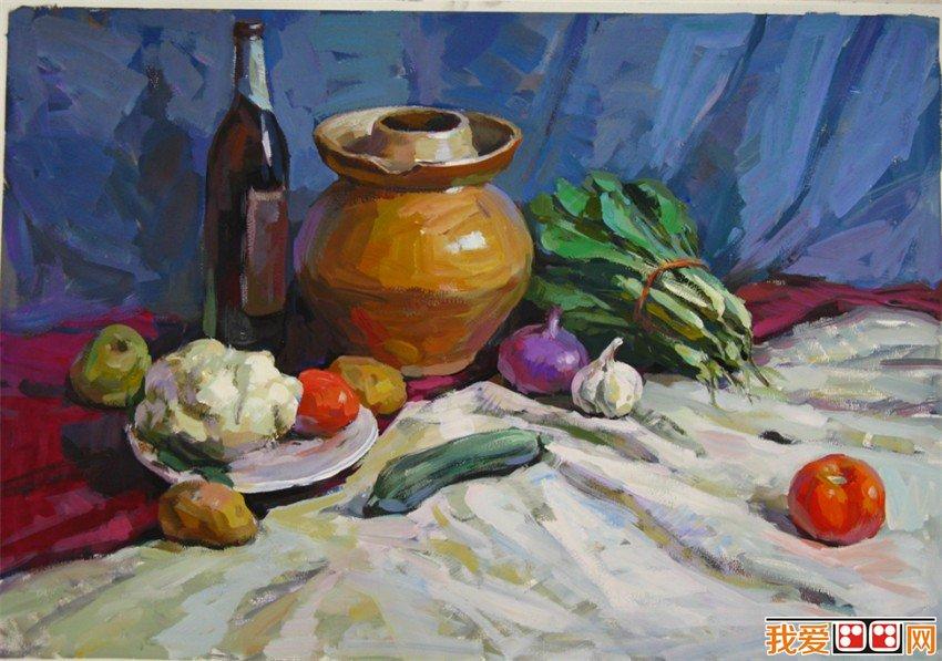 水粉画教程:水粉画蔬菜的画法
