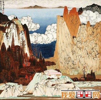 彩墨山水国画作品-中国当代著名国画大师 薛亮 2