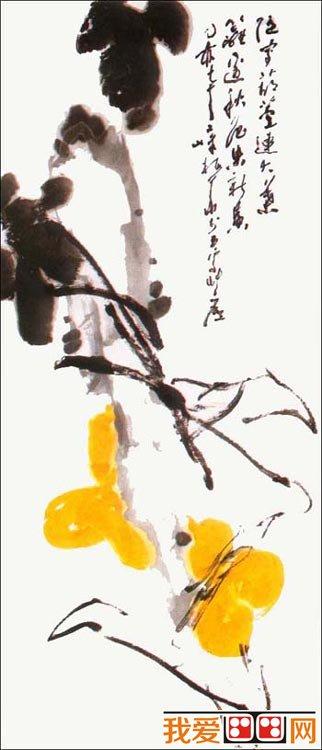 国画教程:国画花卉葫芦画法教程(4)