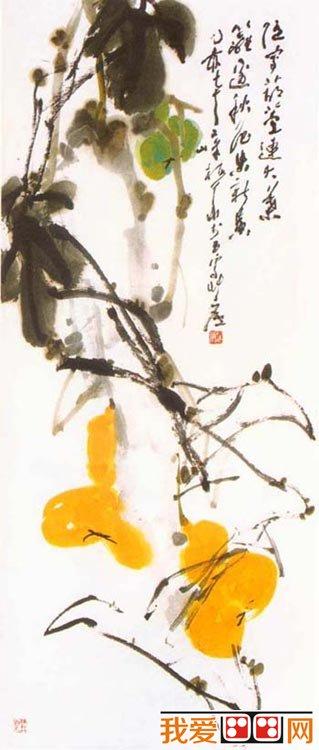 国画教程:国画花卉葫芦画法教程(6)_国画教程_绘画_我