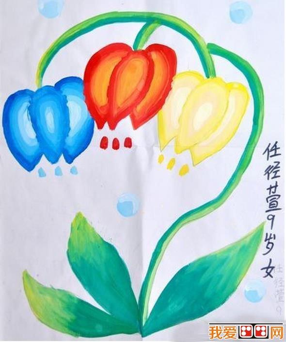 儿童水彩画:美丽的花朵水彩画欣赏_儿童画教程_学画画