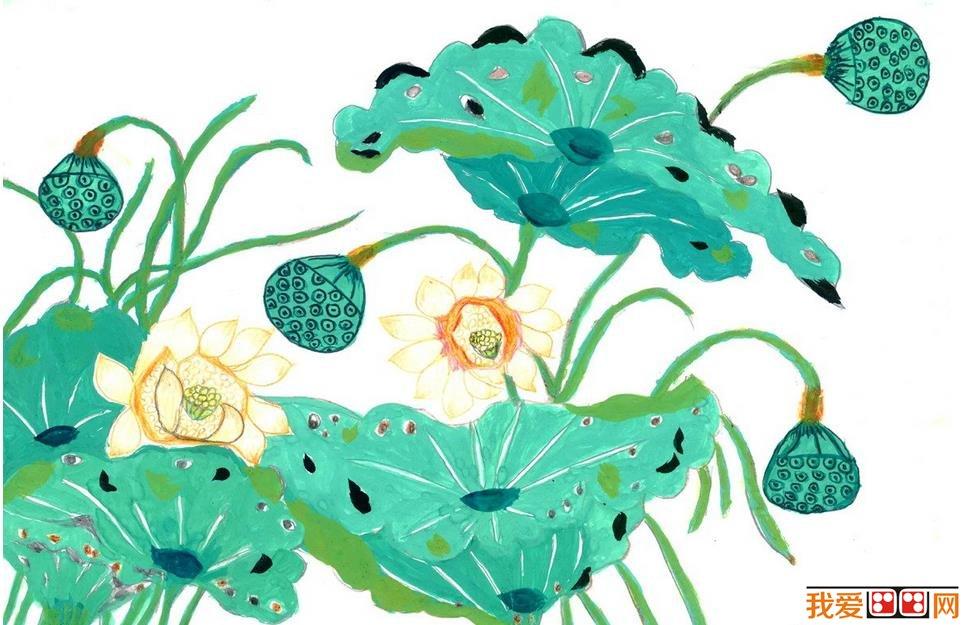 儿童水彩画 美丽的花朵水彩画欣赏 6