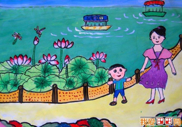 儿童水彩画 美丽的花朵水彩画欣赏 4