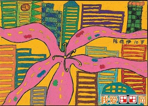 儿童水彩画:美丽的花朵水彩画欣赏(5)